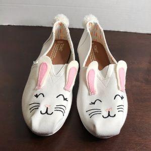 NWOT Toms Bunny Shoes Sz 8.5